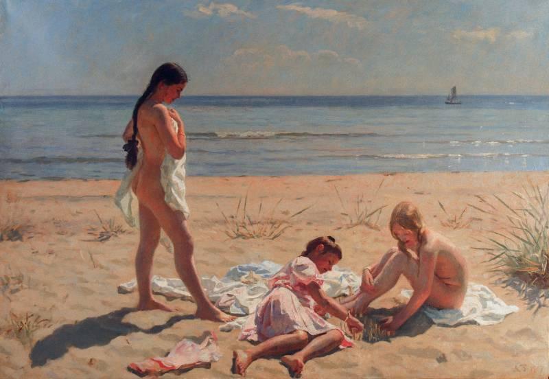 kilen for sex bryster og strand